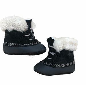 Sorel Caribooties Size 2 Infant Black